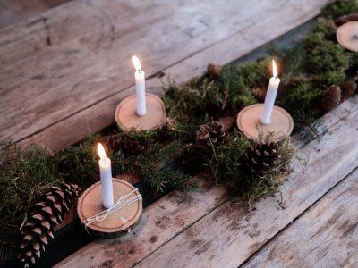 Kerzenbrett - schnelles DIY ohne bohren