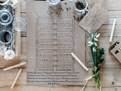 Anbauplan und Gartenkalender im Blumengarten